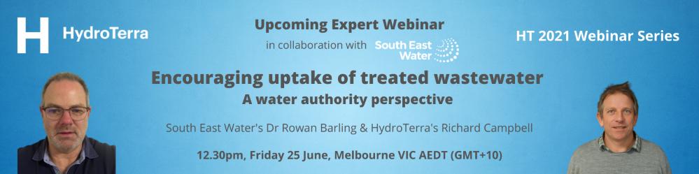 Encouraging Uptake of Wastewater reuse webinar banner
